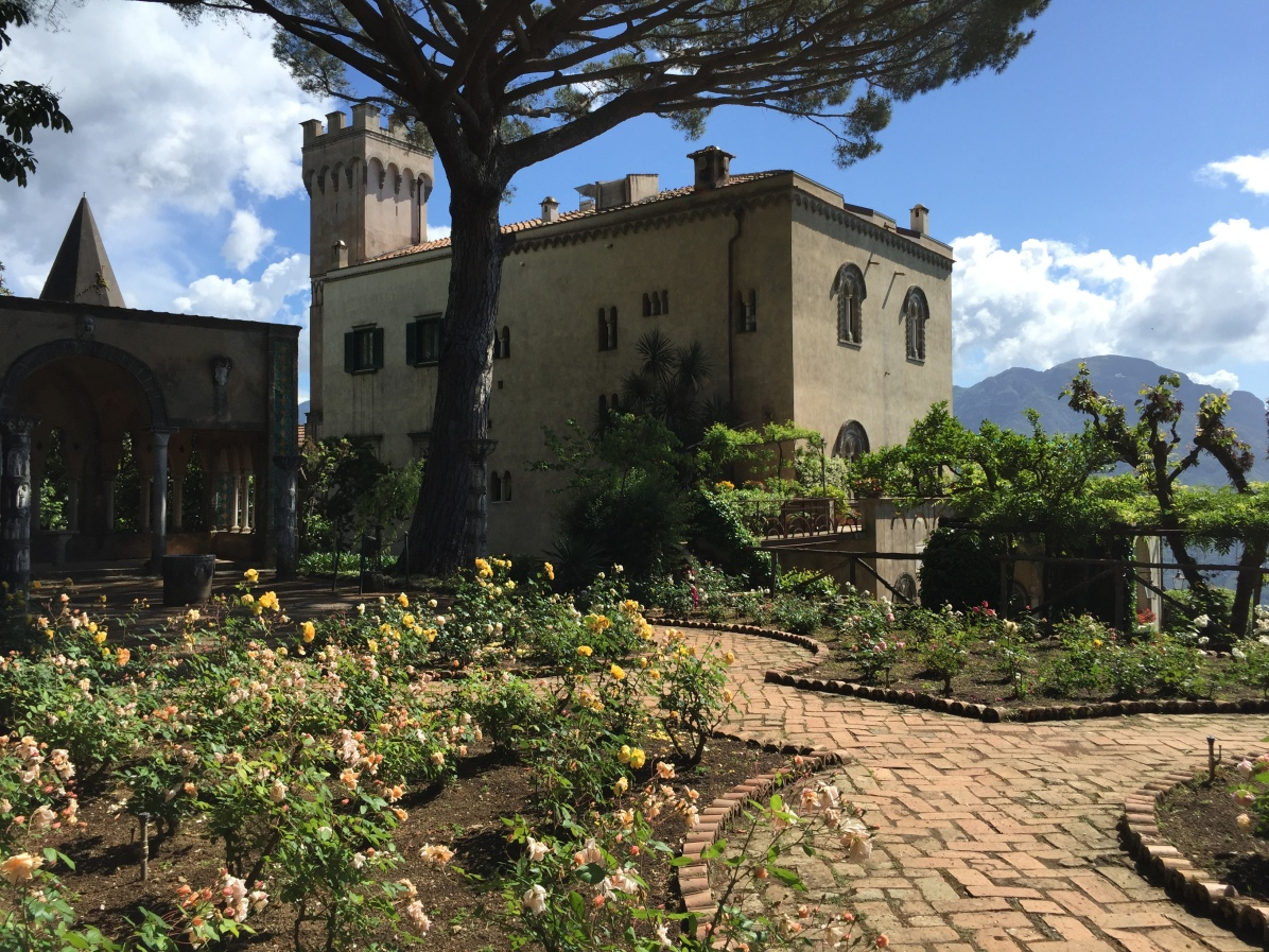 Villa Cimbrone view from Rose Garden